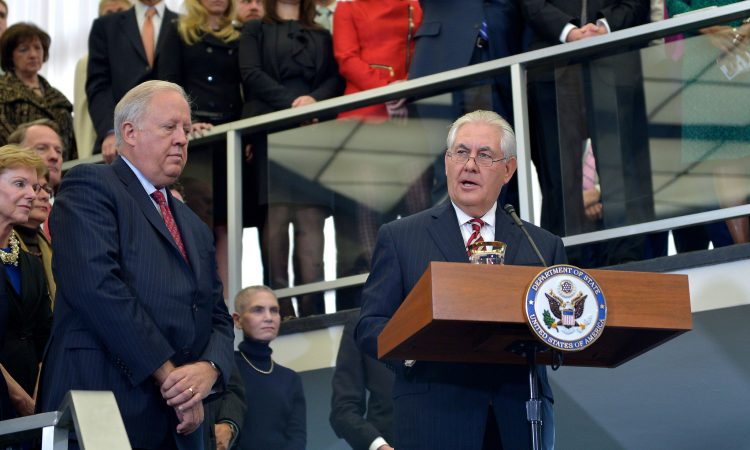 Secretary Tillerson spoke directly to employees for the first time since his confirmation and swearing-in.