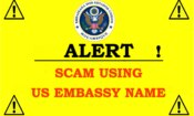 Notice Regarding Scam Using US Embassy Name
