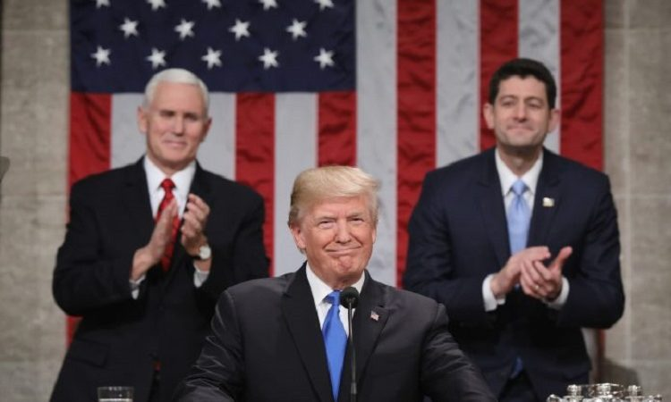 President Trump makes his first State of the Union speech.