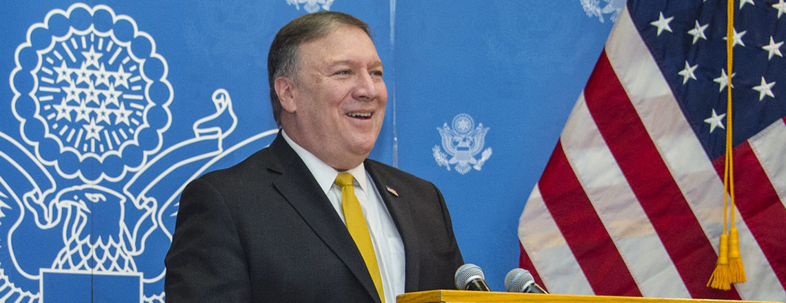 Mike Pompeo, the new Secretary of State